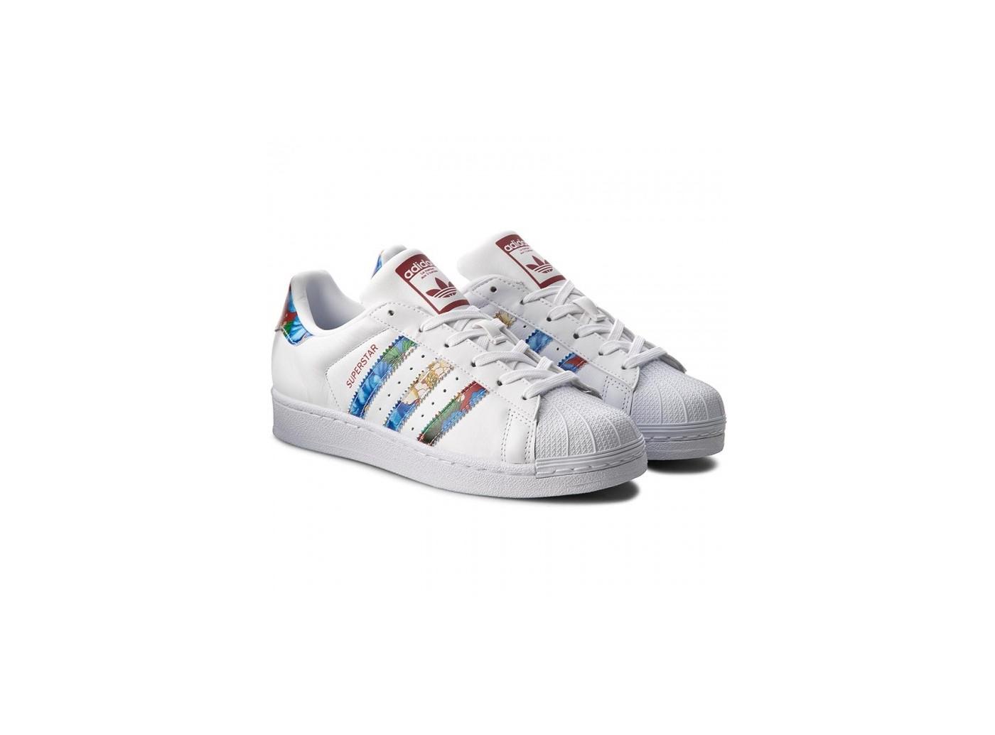 adidas superstar blanche fleur