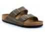 birkenstock arizona faded-kaki bk1019313 mules-sabots-homme
